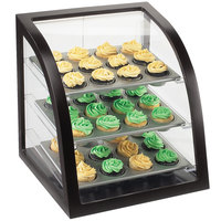 Cal-Mil P255-96 Midnight Bamboo Euro Style Display Case with Rear Door - 17 inch x 17 inch x 18 inch
