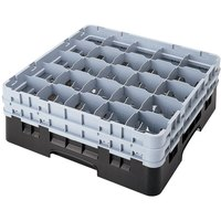 Cambro 25S1058110 Camrack 11 inch High Black 25 Compartment Glass Rack
