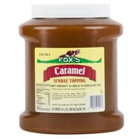 Fox's Caramel Ice Cream Topping - 6 - 1/2 Gallon Containers / Case