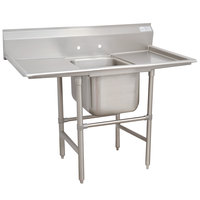 Advance Tabco 9-21-20-36RL Super Saver One Compartment Pot Sink with Two Drainboards - 94 inch