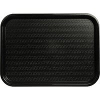 Carlisle CT121603 Customizable Cafe 12 inch x 16 inch Black Standard Plastic Fast Food Tray - 24/Case