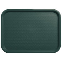 Carlisle CT121608 Customizable Cafe 12 inch x 16 inch Forest Green Standard Plastic Fast Food Tray - 24/Case