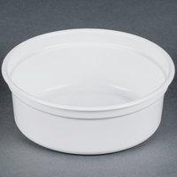 Dart Solo MicroGourmet 8NW-0007 8 oz. White Polypropylene Deli Container - 500 / Case