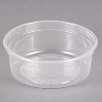 Dart Solo MicroGourmet MN8-0100 8 oz. Contact Clear Polypropylene Deli Container - 500/Case