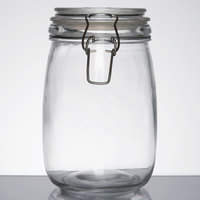 American Metalcraft HMJ6 35 oz. Glass Hinged Apothecary Jar - 12/Case