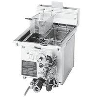 Frymaster J1X 20 lb. Drop-In Gas Countertop Fryer with Millivolt Controls - 45,000 BTU