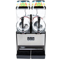 Omega OFS20 1/3 HP Slushy / Granita Machine with 2 Hoppers - Black and Stainless Steel 120V