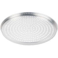 American Metalcraft SPA4015 15 inch x 1 inch Super Perforated Standard Weight Aluminum Straight Sided Pizza Pan