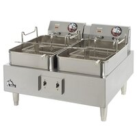 Star Max 530TEF-CSA 30 Pound Twin Pot Commercial Countertop Deep Fryer 9200W (Canadian Use)