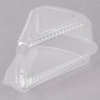Par-Pak 3210 Medium Hinged OPS Plastic Pie Slice Container - 20/Pack