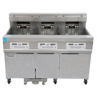 Frymaster 11814E/RE17/11814E 170 lb. High Production Electric Floor Fryer with Digital Controls - 17 kW
