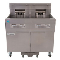 Frymaster 11814E 60 lb. High Production Electric Floor Fryer with Digital Controls - 17 kW