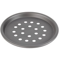 American Metalcraft HC2006SP 6 inch Super Perforated Hard Coat Anodized Aluminum Tapered / Nesting Pizza Pan
