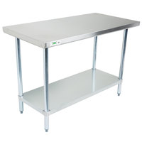 Regency 18 Gauge 24 inch x 48 inch 304 Stainless Steel Commercial Work Table with Undershelf