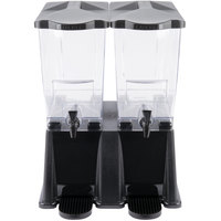 Carlisle 1085303 Black TrimLine 6 Gallon Economy Double Base Beverage Dispenser