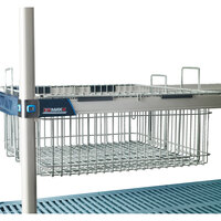Metro MB1822XE 18 inch X 22 inch Wire Basket with Epoxy Coating for MetroMax iQ Shelving