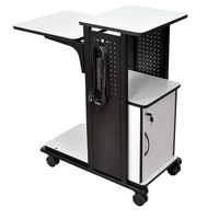 Luxor / H. Wilson WPS4CE Presentation Station Cart with Locking Cabinet - 34 1/2 inch x 18 1/4 inch x 39 1/2 inch
