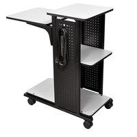 Luxor / H. Wilson WPS4E Presentation Station Cart - 34 1/2 inch x 18 1/4 inch x 39 1/2 inch