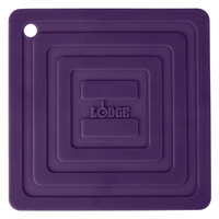Lodge AS6S91 Purple 6 inch x 6 inch Silicone Pot Holder