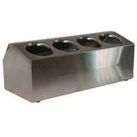 Steril-Sil CC-LTC-4S 4-Hole Insulated Ice-Cooled Stainless Steel Countertop Condiment Dispenser