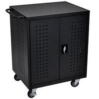 Luxor / H. Wilson LLTM42-B 42 Tablet / Chromebook Charging Cart - 28 3/4 inch x 22 1/2 inch x 36 3/4 inch