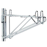Metro 2WS18C Post-Type Wall Mount Shelf Support for Adjoining Super Erecta Chrome 18 inch Deep Wire Shelving