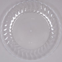 Fineline Flairware 209-CL 9 inch Clear Plastic Plate - 18/Pack