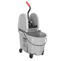 Rubbermaid Gray 1863899 35 Qt. Executive Series WaveBrake™ Down Press Mop Bucket