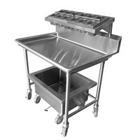 Steril-Sil E1-LSS-2H-W E1 Mobile Sorting Station Cart