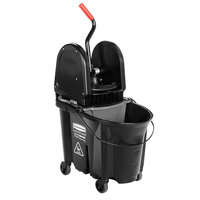 Rubbermaid Black 1863898 35 Qt. Executive Series WaveBrake™ Down Press Mop Bucket