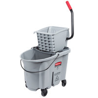 Rubbermaid Gray 1863897 35 Qt. Executive Series WaveBrake® Side Press Mop Bucket