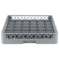 Noble Products 36-Compartment Gray Full-Size Glass Rack - 19 3/8 inch x19 3/8 inch x 4 inch
