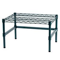 Regency 24 inch x 18 inch x 14 inch Green Epoxy Coated Wire Dunnage Rack with Extra Support Frame - 600 lb. Capacity