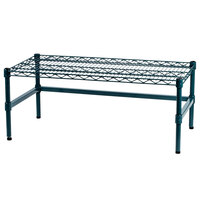 Regency 36 inch x 18 inch x 14 inch Green Epoxy Coated Wire Dunnage Rack with Extra Support Frame - 600 lb. Capacity