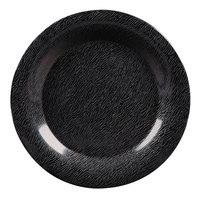 GET WP-9-EW-BK Black Etchedware 9 inch Textured Wide Rim Plate - 24/Case