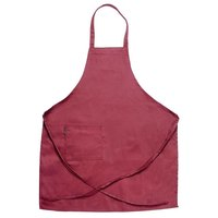 Chef Revival 601BAC-BG Customizable Full-Length Burgundy Bib Apron - 34 inchL x 28 inchW