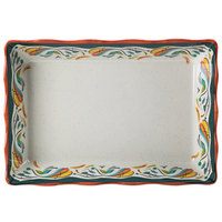GET ML-88-BF Bella Fresco Tray - 13 3/4 inch x 9 3/4 inch x 2 1/2 inch - 6 / Case
