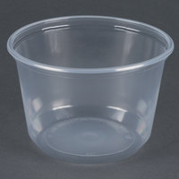 Choice 16 oz. Microwavable Translucent Round Deli Container - 50/Pack