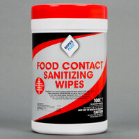WipesPlus Food Contact Sanitizing Wipes - 100/Canister