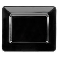 GET ML-11-BK Milano 12 inch x 10 inch Black Rectangular Plate - 12/Case