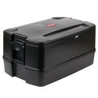 Rubbermaid 9407 CaterMax 29 1/2 inch x 19 inch x 15 1/2 inch Black Top Loading Insulated 4-Pan Carrier