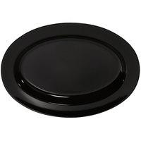 GET OP-618-BK Milano 18 inch x 13 1/2 inch Black Oval Platter - 12/Case