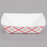 Southern Champion 425 #300 3 lb. Red Check Paper Food Tray - 250/Pack