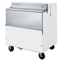 Beverage Air SMF34Y-1-W-02 White Exterior with Stainless Steel Interior Forced Air Milk Cooler 1 Sided - 34 inch