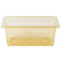Cambro H-Pan 35CLRHP150 1/3 Size Amber High Heat Colander Pan - 5 inch Deep