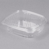 Genpak AD24F 7 1/4 inch x 6 3/8 inch x 2 9/16 inch 24 oz. Clear Hinged Deli Container with High Dome Lid - 200/Case