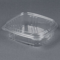 Genpak AD24F 7 1/4 inch x 6 3/8 inch x 2 1/4 inch 24 oz. Clear Hinged Deli Container with High Dome Lid - 200 / Case