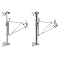 Metro SW51C Super Erecta Chrome Single Level Post-Type Wall Mount End Unit for 24 inch Deep Shelf