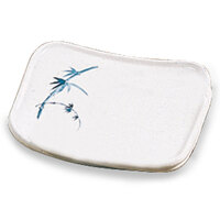 Blue Bamboo Melamine Square Plate – 4 3/4 inch x 4 1/4 inch 12 / Pack
