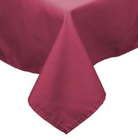 54 inch x 96 inch Mauve 100% Polyester Hemmed Cloth Table Cover
